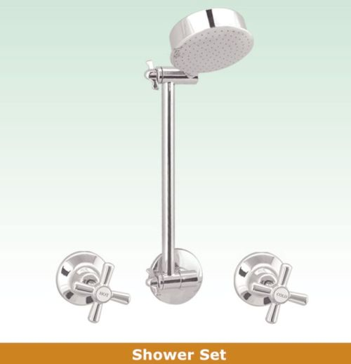 OS OSR-JAS Bathroom Wall Shower Wels 3 Piece Tapware Set Chrome