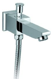 OS Square Bathroom Wall Bath Spout With Diverter