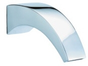 OS Curved Design Bathroom Wall Bath Spout Chrome