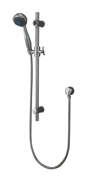 OS Bathroom Wels Wall Hand Shower Rail Curved Chrome Finish