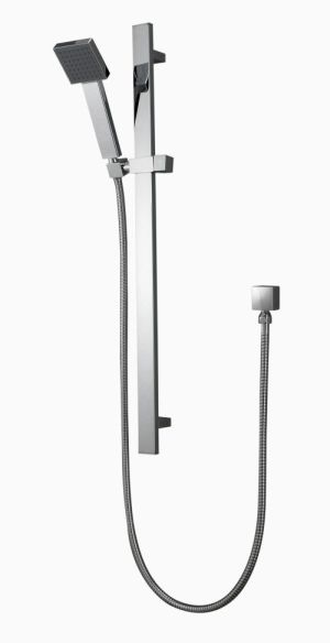 OS Square Wall Bathroom Wels Hand 1 Function Shower Chrome