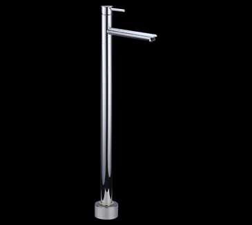 Rossto Bathroom Floor Round Mixer Tap Faucet Chrome