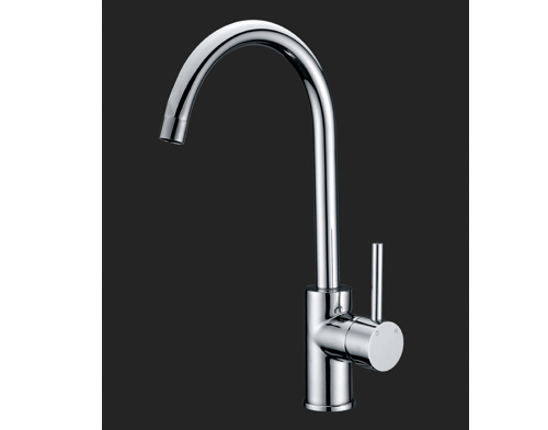 Shardy Round Gooseneck Kitchen Laundry Sink Wels Mixer Tap Chrome