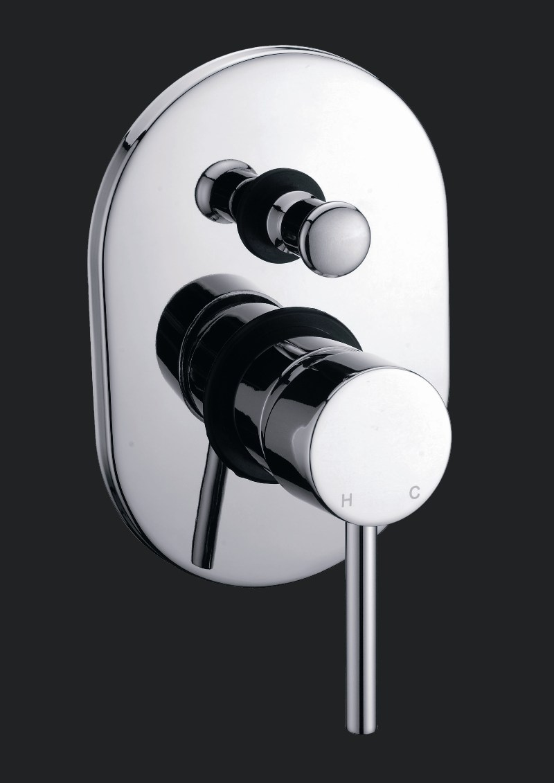 Shardy Round Wall Shower/Basin Mixer With Diverter Chrome
