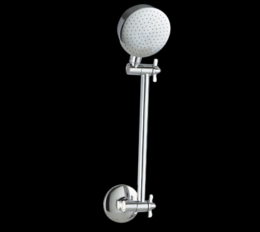 Rossto Bathroom All Directional Wall Shower Head Round Chrome
