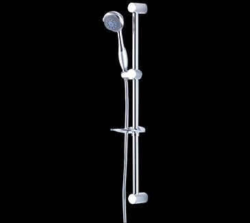 Rossto Bathroom Wels Sliding Shower Head Rail Set Round Chrome
