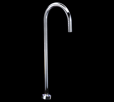 Rossto Round Floor Bathroom Bath Spout Chrome