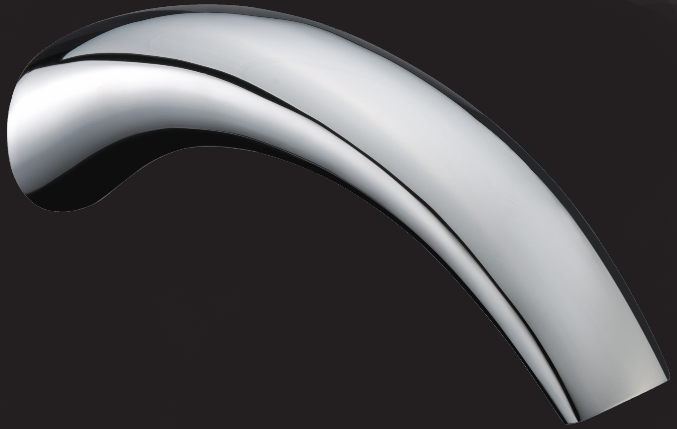 Rossto Dolce Bathroom Curved Wall Bath Spout Chrome