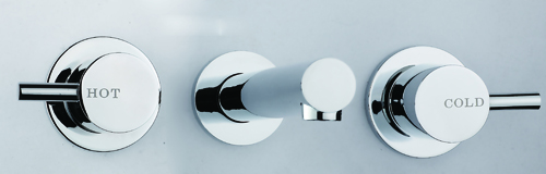 Rossto Eclipse Bathroom Wall Bath 3 Piece Tapware Set