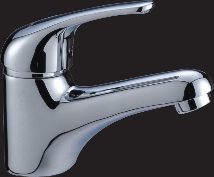 Standard Curved Bathroom Basin Wels Mixer Tap Faucet Chrome