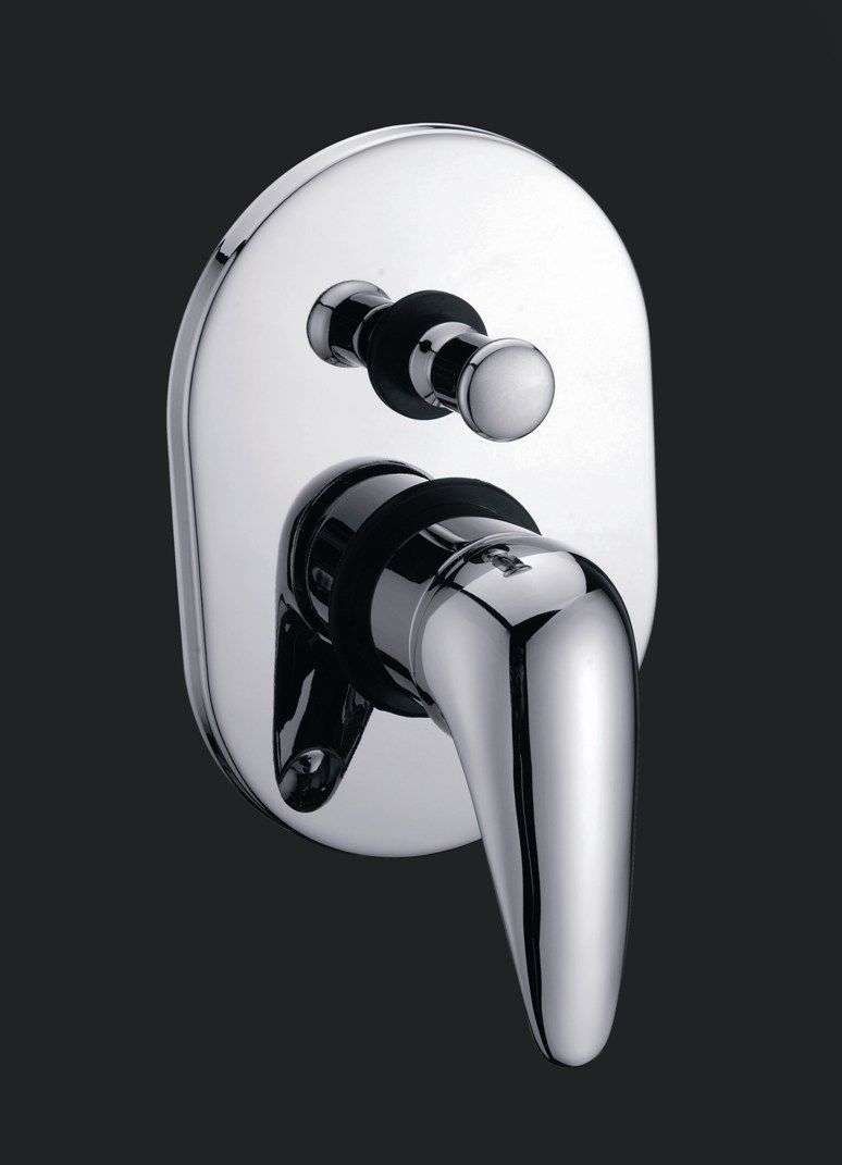 Standard Wall Bathroom Bath/Shower Mixer With Diverter Chrome