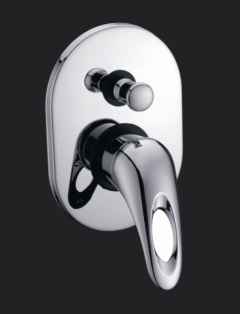 Rossto Censa Bath/Shower Mixer With Diverter Chrome Round
