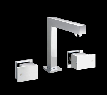 Rossto Bathroom Vanity Basin Wels Tapware Set Chrome Square