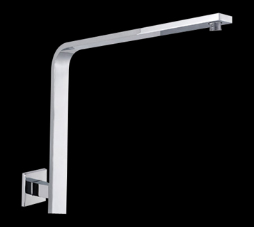 Rossto Bathroom Rectangle Curved Shower Arm Chrome 360mm