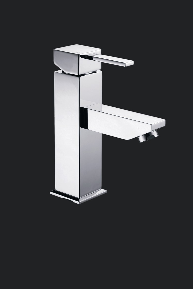 Dolce Square Bathroom Small Basin Wels Mixer Tap Faucet Chrome