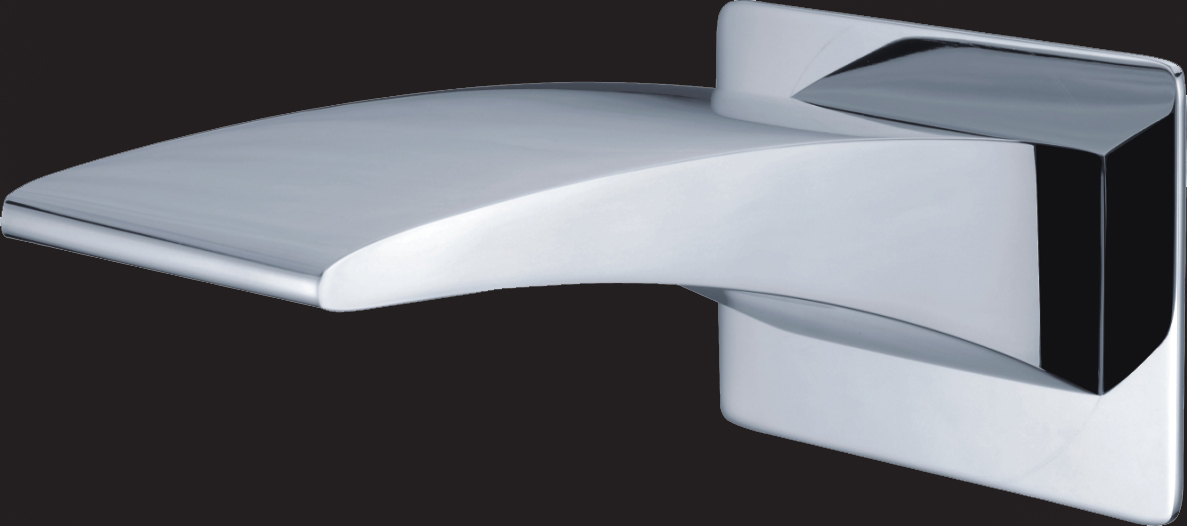 Rossto Doress Bathroom Curved Wall Bath Spout Chrome