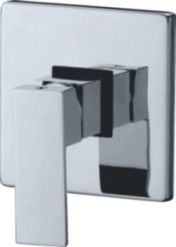 OS Bathroom Wall Shower Bath Mixer Chrome Square