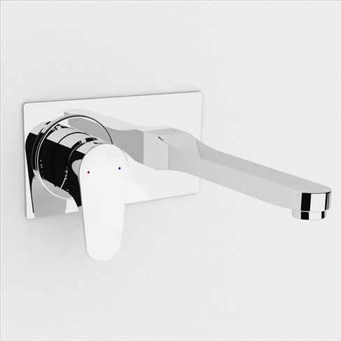 Dorf Viridian Wall Bath Mixer