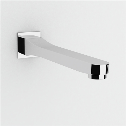 Dorf Viridian Wall Bath Spout 200mm